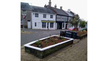Flower beds outside a RBL HQ