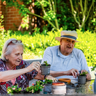 Green-fingered residents at St Audrey's care home.