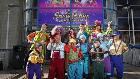 The cast of Snow White the Stevenage panto of 2018. Picture: DANNY LOO