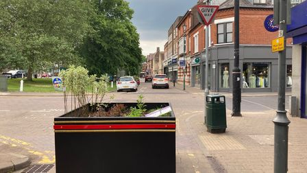 Planters have been installed in Harpenden town centre to replace parking spaces and block roads.