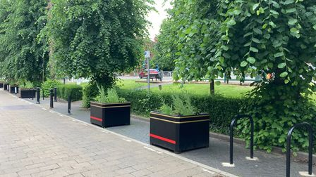 Planters have been installed in parking bays in Harpenden town centre.