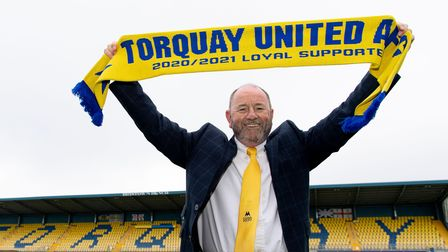 Gary Johnson has extendedhis contract as manager of Torquay United