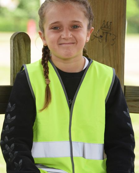Talia, 11, at Horsford Primary School. Picture: DENISE BRADLEY