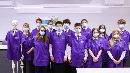 Students who have already signed up to the UTCN Health Futures programme plus a skeletal volunteer.