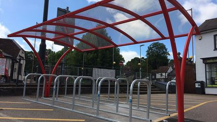 The new cycle shelter in Royston