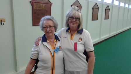 Sidmouth Bowlers Jill and Susie