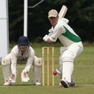 Ickleford's Jon Hilliard faces a delivery