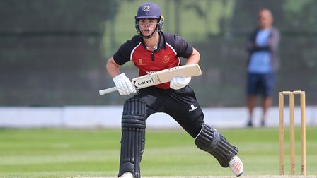 Joe Cracknell in batting action for North Middlesex against Hampstead CC in 2019