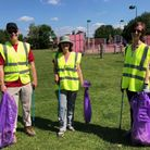 Volunteers who took part in the Little Paxton Litter Pick on June 12.