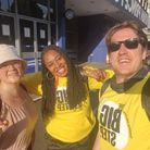 Dawn Butler with Carmel and James from her Labour Party team doing the Big Step Charity Walk