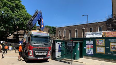 Hornsey Town Hall building works