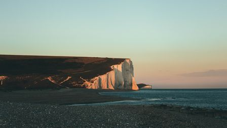 The iconic Seven Sisters chalk cliffs in Eastbourne, East Sussex