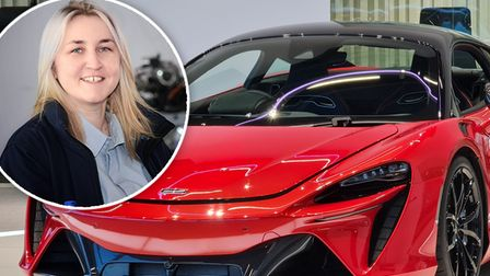 Former Wisbech Grammar School pupilJoanna Rowe (pictured) who manages the day-to-day production of McLaren supercar engines