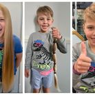 Hudson Streatfield, 6, had never cut his luscious locks - and braved the chop for the Little Princess Trust