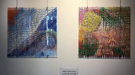 Stone Lodge Academy art work at the Whistler Gallery in Jerwood DanceHouse