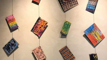 Stone Lodge Academy artwork at the Whistler Gallery in Jerwood DanceHouse