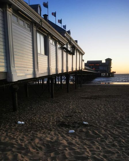 PICTURES: Litter left on Weston Beach