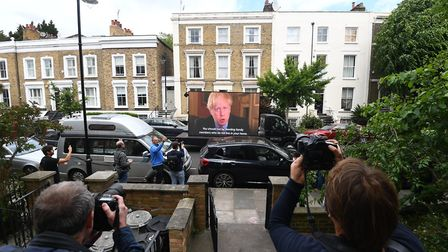 A video by political campaign group Led By Donkeys of the statement made by Prime Minister Boris Joh