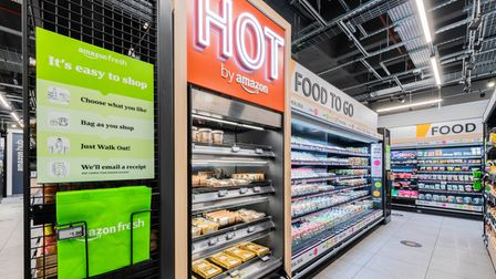 The Amazon shop will sell general groceries and some hot food