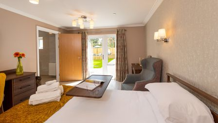 One of the 20 bedrooms at Potters Grange.