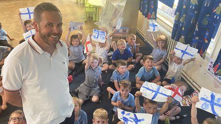 Primary school teacher Andy Palmer, is using the Euros as an opportunity to teach his classabout global geography.