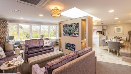 Features of Potters Grange include a cinema room anda private dining room.