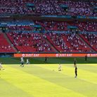 England players take the knee as the Croatia players stand during the UEFA Euro 2020 Group D match a