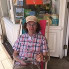 Carl East of Winstone's Independent Bookshop