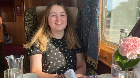 Louisa Baldwin enjoys a day out on the Northern Belle from Norwich Station.