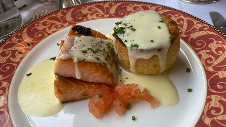 Passengers were served a three-course brunch, including a twice-baked mature cheddar cheese soufflé with hot smoked salmon.