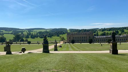 The Northern Belle took passengers on a day trip to Chatsworth House in Derbyshire.