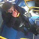"""A CCTV image of a man police want to speak to """"as a matter of urgency"""", after a man exposed himself on a bus in Islington"""