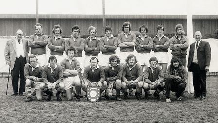 Sidmouth Rugby Havill Plate winning side of 1973