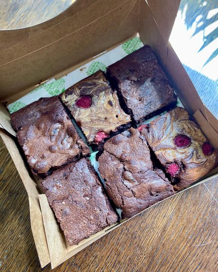 Delicious Brownies made by Elise May.