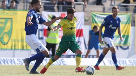 Patrick Roberts of Norwich in action during the Pre-season friendly match at Frimo Stadion, LotteP