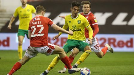 Ryan Yates of Nottingham Forest and Dimitris Giannoulis of Norwich in action during the Sky Bet Cham