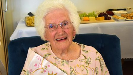 Kit celebrated her birthday at Meadowbanks care home in Upminster