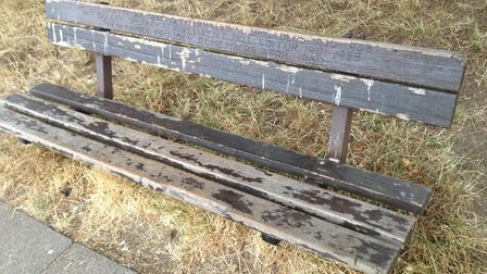 The old bench before it was removed