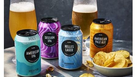 A selection of Marks & Spencer craft beers.