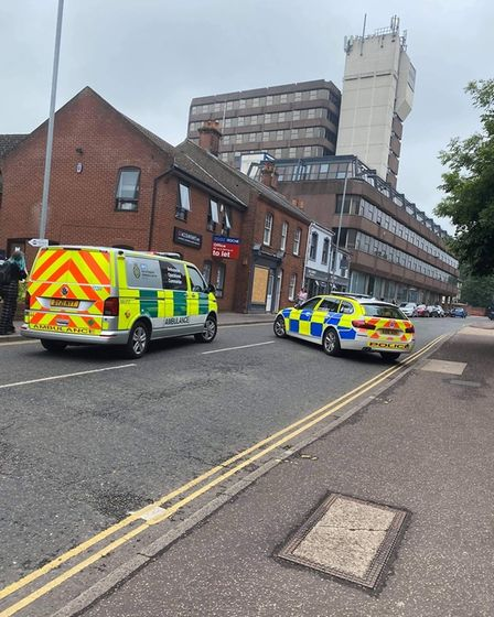 The police and ambulance service were called to a crash between a motorcycle and bus in All Saints Green.