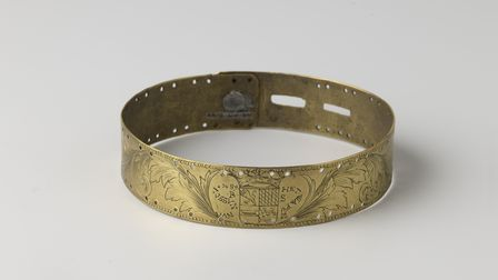 A brass ring that would have been put around the neck of a slave, taken from the exhibition at Amsterdam's Rijksmuseum