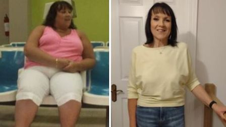 Breast cancer survivor Avril Rapleydropped eight dress sizes and lost nearly 11 stone in five years.