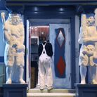 The Samson and Hercules statues at Tombland, back to their original white colour. Picture: DENISE BR