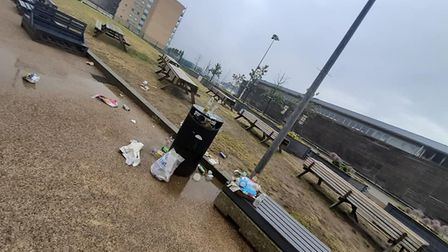 The rubbish was discovered by Helen Burrows on Thursday morning