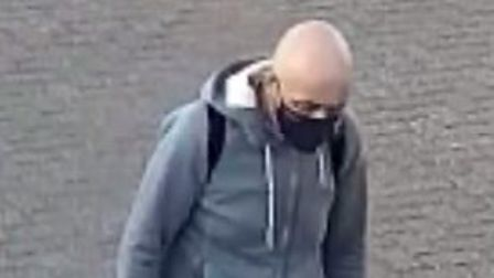 Police would like to speak to this man in connection with the theft of a bike.