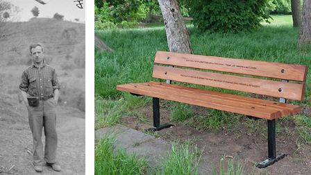 Joe Gibbons in Spain in 1938, and the new bench