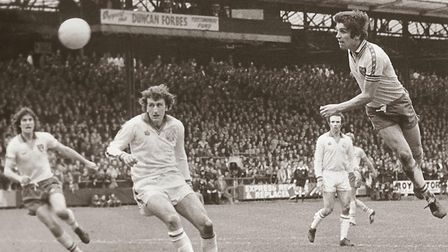 NCFC; KEVIN REEVES; NO DATE; PRINT C0421Norwich v Leeds 1978