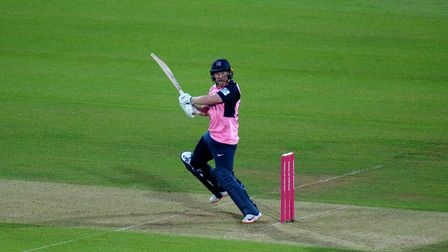Middlesex captain Eoin Morgan bats during the Vitality T20 match at Lord's, London. Picture date: Th