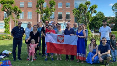 The Polish Saturday School in WGC enjoyed a picnic in the town centre and a talk from Tony Skottowe