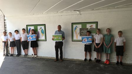 Bedwell pupils in underpass galery